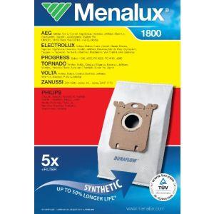 Menalux 1800 - 5 sacs + 1 filtre pour aspirateurs