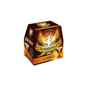 Grimbergen Bière d'abbaye ambrée - 6,50 degré d alcool - Les 6 bouteilles de 25cl