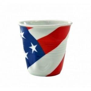 Revol 6 tasses froissées British en porcelaine (8 cl)