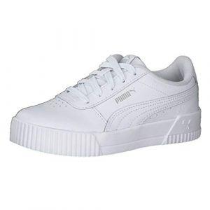 Puma Carina L PS, Baskets Fille, White White-Gray Violet, 31 EU
