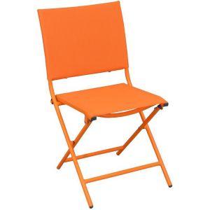 Proloisirs Chaise pliante textilène et acier (lot de 2)