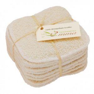 Les Tendances d'Emma 10 carrés démaquillants lavables Biface coton bio