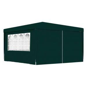 VidaXL Tente de réception et parois latérales 4x4 m Vert 90 g/m²