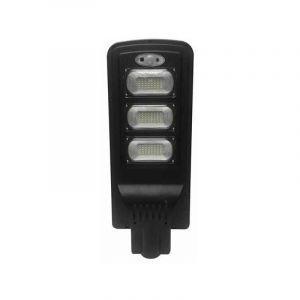 Optonica Luminaire LED Urbain Solaire 12W Noir IP65 avec Détecteur + Télécommande