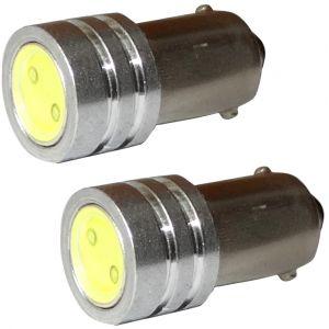 Aerzetix 2x ampoule T4W T5W BA9s 12V LED HIGH POWER 1W blanc effet xénon éclairage intérieur plaque d'immatriculation seuils de porte plafonnier pieds lecteur de carte coffre compartiment moteur