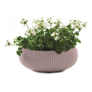 Curver Pot de fleur aspect tricot 54cm - Mauve