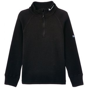 Odlo Shirt ML WARM 1/2 zip enfant t-shirt manches longues enfant 1/2 zip Enfant black FR: L (Taille Fabricant: 152)