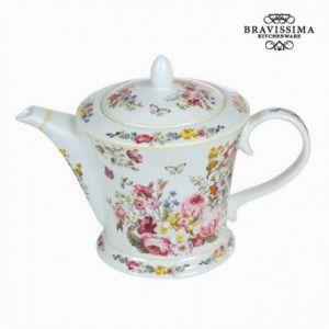 Bravissima Kitchen Théière en porcelaine bloom white Collection Kitchen's Deco