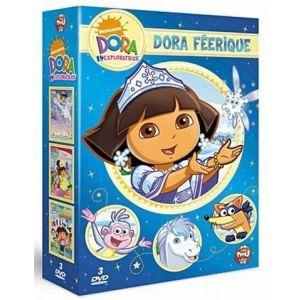 Coffret Dora féérique - Dora sauve la princesse des neiges + Dora au pays des fées + Dora autour du monde