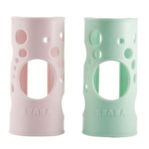 Beaba 911312 - Housse de protection en silicone pour biberon en verre