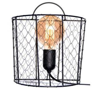 WYRIA Applique grillage esprit industriel 18x18cm idéal avec une ampoule vintage ? ampoule E27 60W
