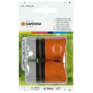 Gardena 1046-26 - Lot de 2 raccords rapides pour tuyau Ø 13-15 mm