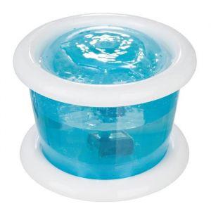 Trixie Bubble Stream 3l bleu/blanc - Distributeur automatique d'eau pour chien