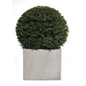 Grand Pot carré haut large LIA gris beige 73,57L