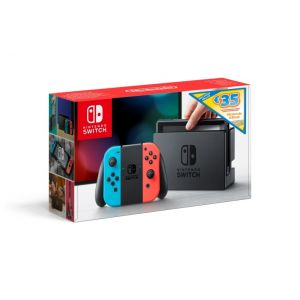 Nintendo Console Switch Rouge/Bleue + Eshop card 35€