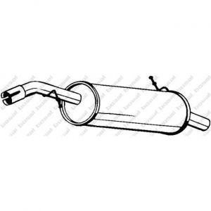 Bosal Silencieux arrière 135-017