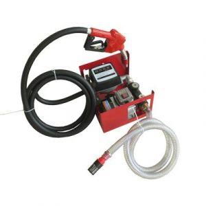 Varan Motors Motors - NEEP-02-2 Pompe à fuel ou gasoil auto-amorçante, 230V 60l/min - 550W - Pistolet à Blocage automatique - Rouge