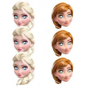6 masques Elsa et Anna La Reine des neiges