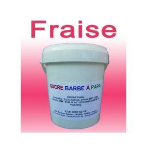 Azur Confiserie Sucre à barbe à papa Fraise (500g)
