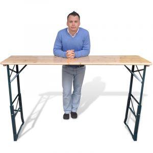 VidaXL Table de bière pliable 179 x 50 x 75/105 cm Pinède