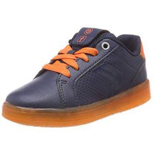 Geox J Kommodor B, garçon, Bleu (Navy/Orange C0659), 30 EU