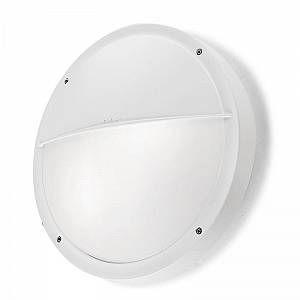 Led C4 Leds C4 - Applique ronde extérieure Opal IP65 D30 cm - Blanc