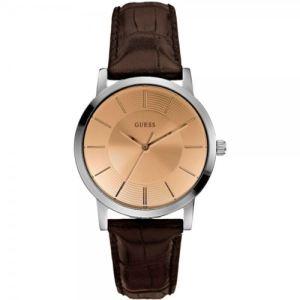 Guess W0191G - Montre pour homme avec bracelet en cuir