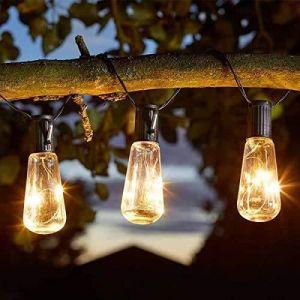 Smart solar Smart Garden Products 1060265 Eureka! Guirlande lumineuse solaire vintage 10 ampoules