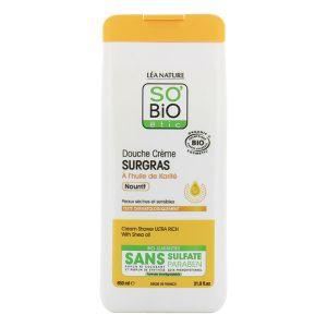 So'Bio Étic Nourrit - Douche crème Surgras à l'huile de Karité