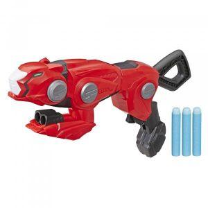 Blaster guépard transformable Ranger rouge avec technologie Nerf Beast Morp rs