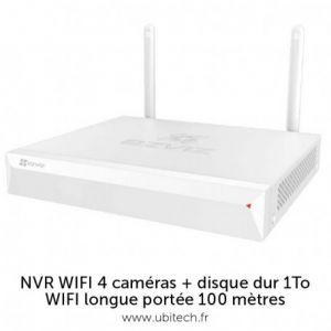 Ezviz Enregistreur vidéo Wi-Fi 4 canaux + disque dur 1 To X5C