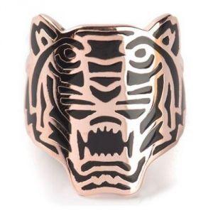 Kenzo 702160701150 - Bague dorée Tigre pour femme