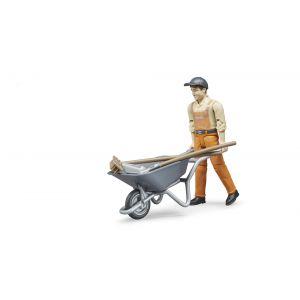 Bruder Toys 62130 - Set figurine employé municipal
