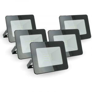 Eclairage design Lot de 5 projecteurs 20W IP65 extérieur   blanc-chaud-2700k