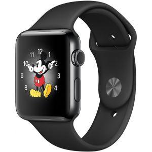Apple Watch 38 mm séries 2 - Montre connectée Boîtier Acier avec Bracelet sport