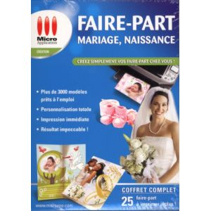Faire-part (Mariage, Naissance ...) [Windows]