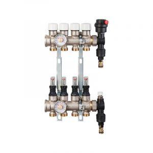 rbm Collecteur compact laiton modulaire | Sorties: 6+6