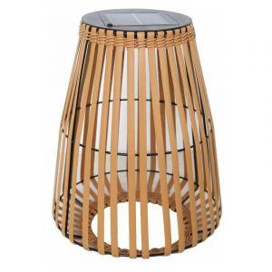 Lumisky Lanterne solaire décorative en poly rotin LED blanc chaud SHADY H43cm