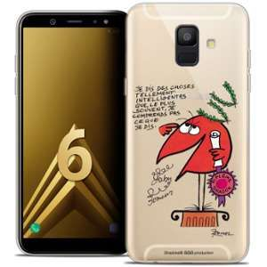 CaseInk Coque Gel Samsung Galaxy A6 2018 (5.45 ) Extra Fine Les Shadoks® - Intelligent