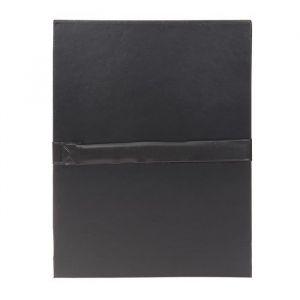 Fast 100725692 - Lot de 10 chemises à dos extensible 1 rabat, à sangle et fermeture velcro, coloris noir
