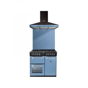 Stoves Piano De Cuisson Mixte - Packr90dfbla - L.90 Cm- Bleu