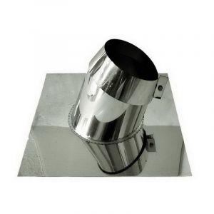 MBM Intempéries cheminée de combustion dn 100 pour toits en pente
