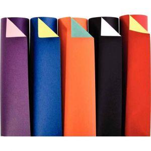 Maildor Papier cartoline bicolore 21x29.7 cm 150g. Couleurs assorties - Paquet de 100 feuille