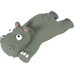 Zolux Hippopotame Couché Jouet en Latex pour Chien 16 x 8 x 5 cm