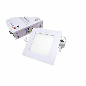 Silamp Downlight Dalle LED Extra Plate Carré BLANC 6W - couleur eclairage : Blanc Neutre 4000K - 5500K