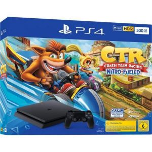 Sony Console PS4 500Go Noire + jeu Crash Team Racing