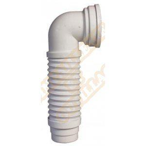 Ceta Pipe WC coudée extensible MULTIPIPE D93-100mm L235-380mm réf 214MULTIPIPE