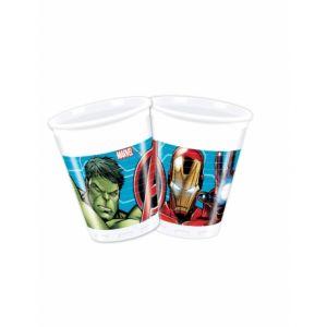 8 Gobelets en plastique 200 ml Avengers Mighty