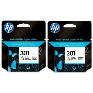 HP Cartouche d'encre Pack 2 x 301 Noir - BUN561EE