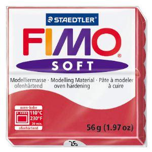 Staedtler Pâte à modeler Soft Fimo rouge